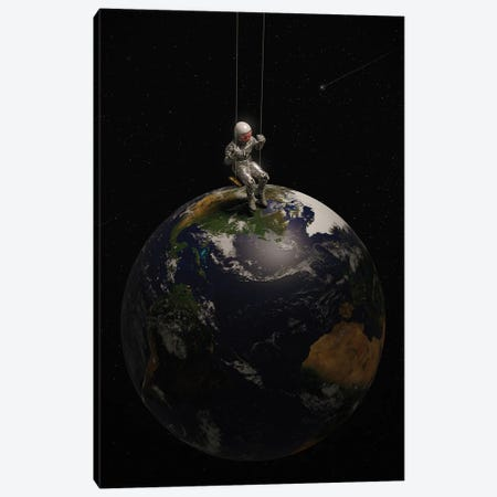 Earth Is My Playground Canvas Print #NID482} by Nicebleed Art Print