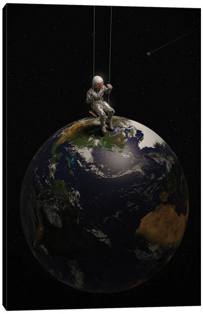 Earth Is My Playground Canvas Art Print