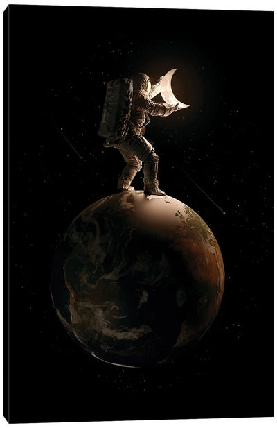 Lunar Canvas Art Print