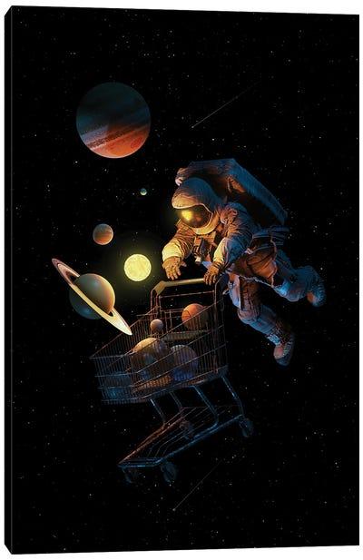Space Cart Canvas Art Print