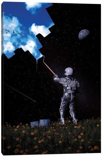 Hello Blue Sky Canvas Art Print