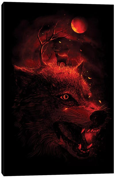 Red Dream Canvas Art Print