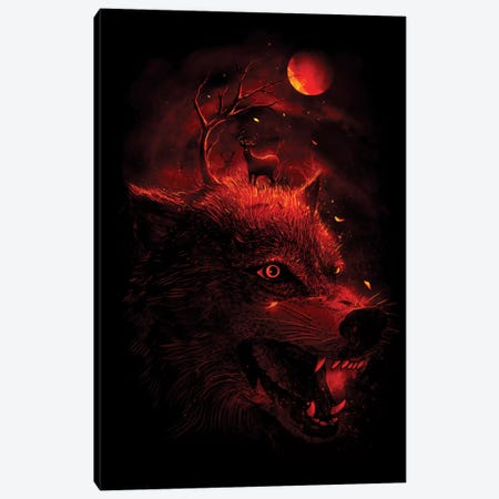 Red Dream Canvas Print #NID56} by Nicebleed Canvas Art