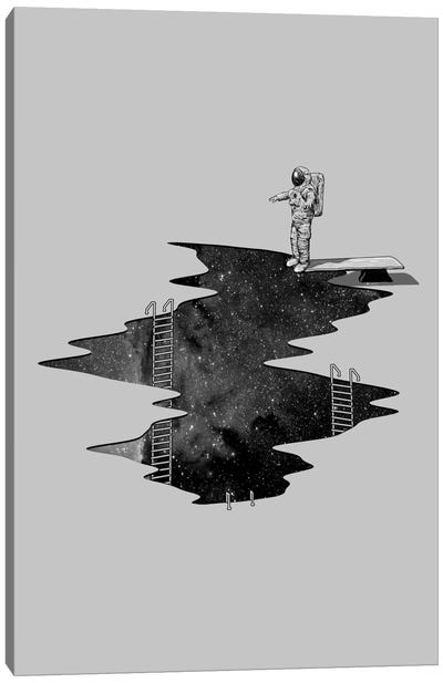 Space Diving Canvas Art Print
