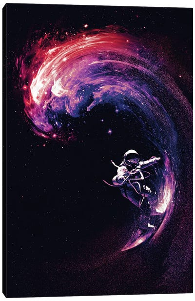 Space Surfing II Canvas Art Print
