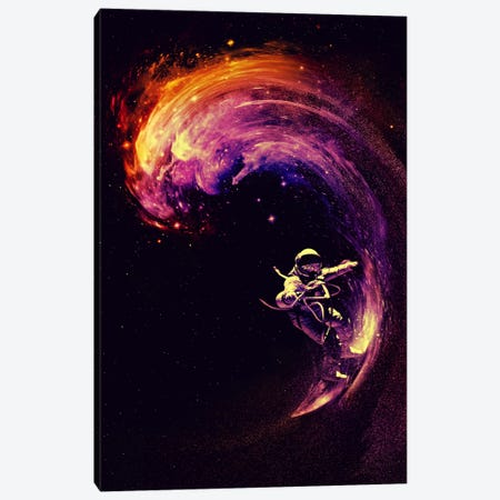Space Surfing Canvas Print #NID67} by Nicebleed Canvas Art Print
