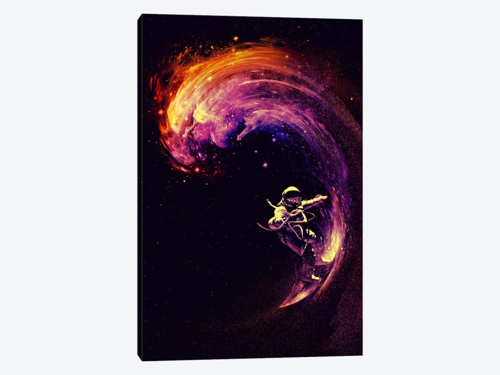 Space Surfing by Nicebleed 1-piece Canvas Art