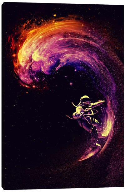 Space Surfing Canvas Art Print