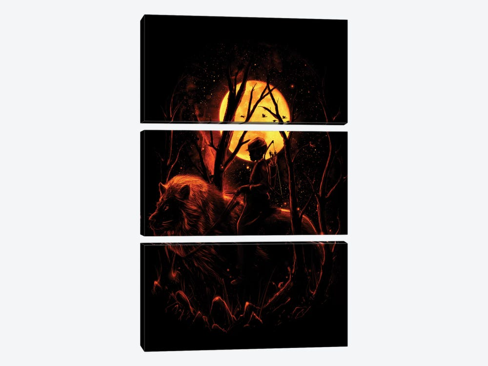 The Hunter by Nicebleed 3-piece Canvas Print