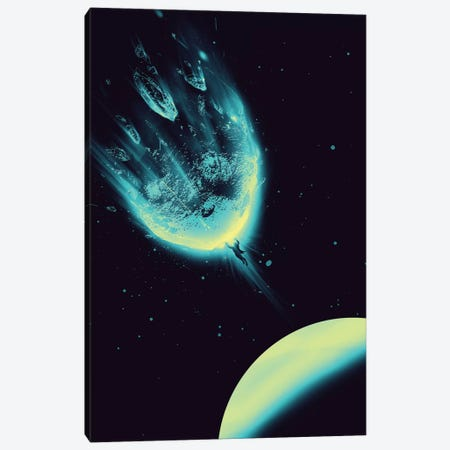 There Is No Planet To Save Canvas Print #NID78} by Nicebleed Art Print