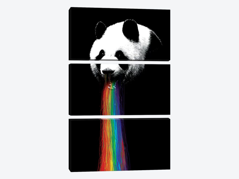Pandalicious by Nicebleed 3-piece Canvas Artwork