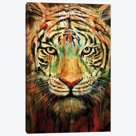 Tiger II Canvas Print #NID93} by Nicebleed Art Print