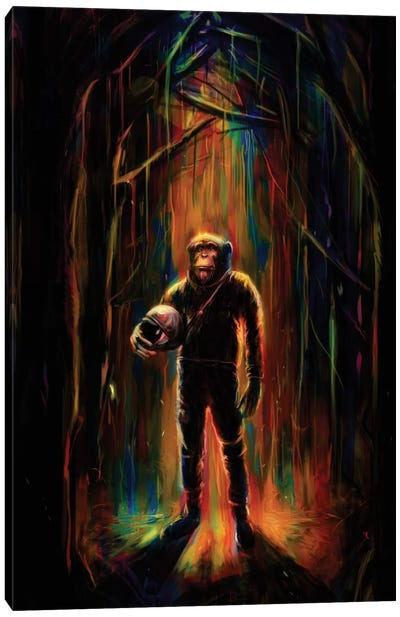 Commander Chimp Canvas Art Print