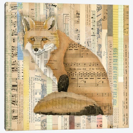 Red Fox Collage II Canvas Print #NIK10} by Nikki Galapon Canvas Art