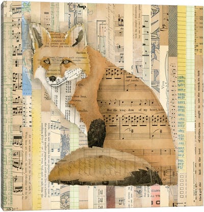 Red Fox Collage II Canvas Art Print