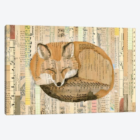 Red Fox Collage III Canvas Print #NIK11} by Nikki Galapon Canvas Wall Art