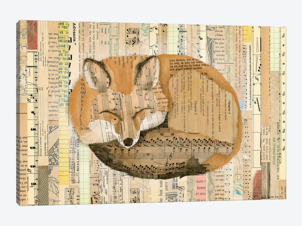 Red Fox Collage III by Nikki Galapon 1-piece Canvas Print