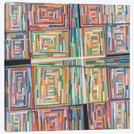 Dot Pattern Canvas Print #NIK13} by Nikki Galapon Canvas Artwork