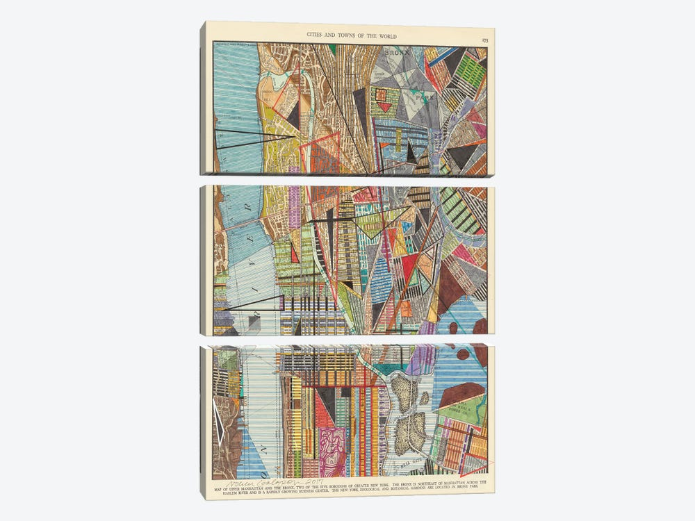 Modern Map of New York I by Nikki Galapon 3-piece Art Print