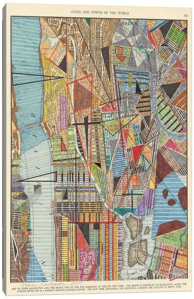 Modern Map of New York I Canvas Art Print