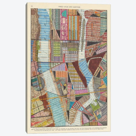 Modern Map of New York II 3-Piece Canvas #NIK18} by Nikki Galapon Canvas Artwork