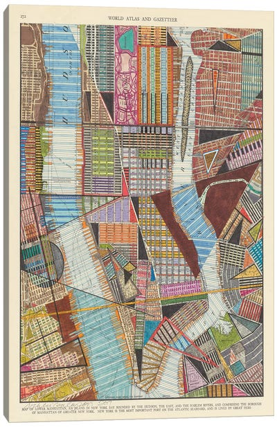 Modern Map of New York II Canvas Art Print