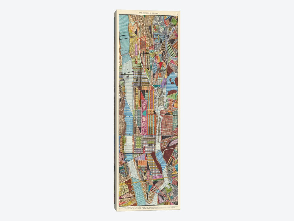 Modern Map of New York III by Nikki Galapon 1-piece Canvas Art Print