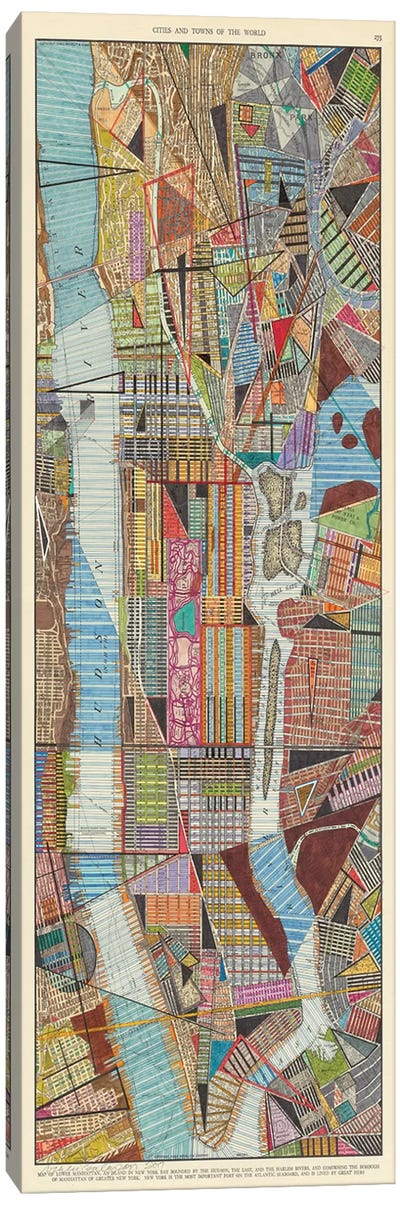 Modern Map of New York III Canvas Art Print