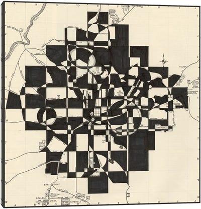 Modern Map Of Atlanta Canvas Art Print