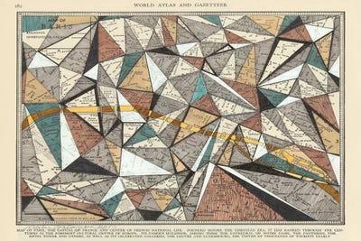 Modern Map Of Paris Canvas Artwork By Nikki Galapon ICanvas - Modern map of paris
