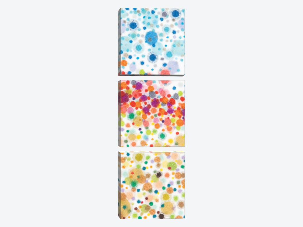 Dot Play I by Nikki Galapon 3-piece Canvas Art Print