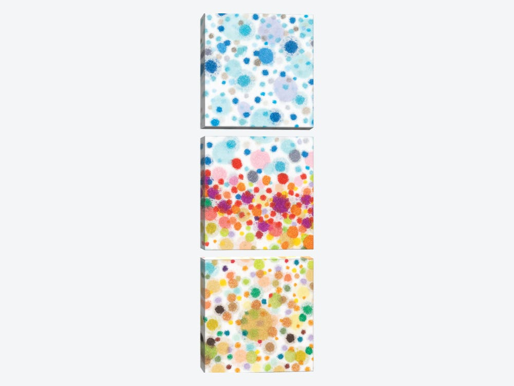 Dot Play II by Nikki Galapon 3-piece Canvas Art
