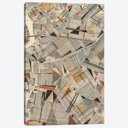 Modern Map Of Brooklyn Canvas Print #NIK2} by Nikki Galapon Canvas Art