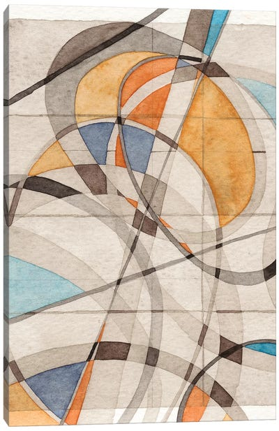 Ovals & Lines I Canvas Art Print