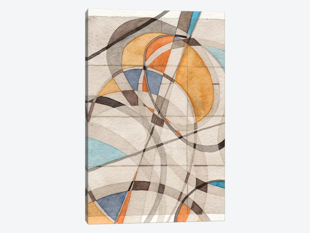 Ovals & Lines I by Nikki Galapon 1-piece Canvas Artwork