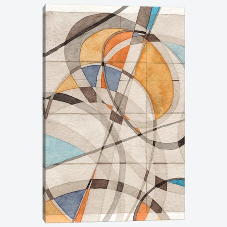 Ovals & Lines I 3-Piece Canvas #NIK32} by Nikki Galapon Canvas Artwork