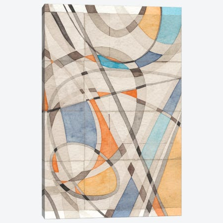 Ovals & Lines II Canvas Print #NIK33} by Nikki Galapon Canvas Wall Art