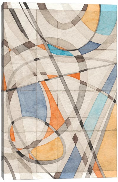 Ovals & Lines II Canvas Art Print