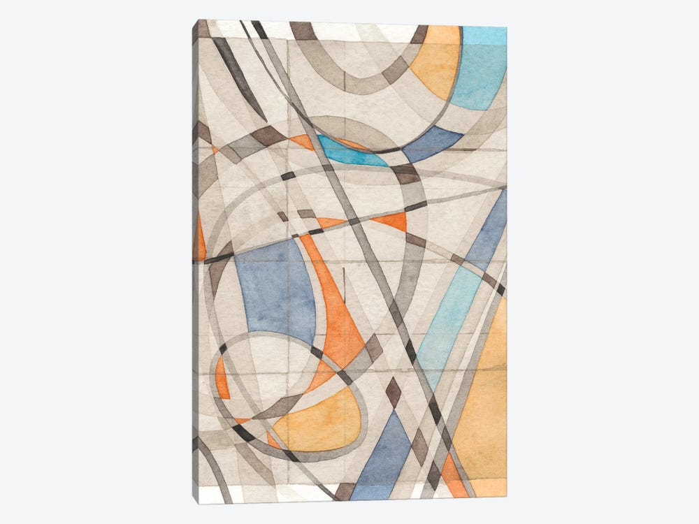 Ovals & Lines II by Nikki Galapon 1-piece Art Print