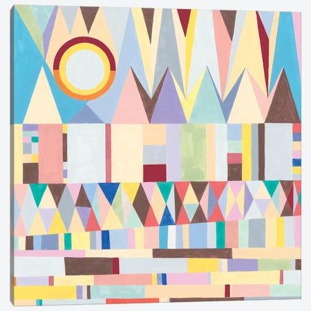 Geometric Horizon 3-Piece Canvas #NIK37} by Nikki Galapon Canvas Print