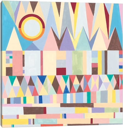 Geometric Horizon Canvas Art Print