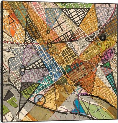 Modern Map Of D.C. Canvas Art Print