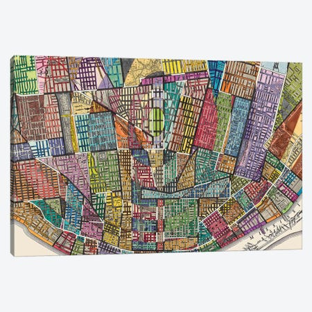 Modern Map Of St. Louis Canvas Print #NIK41} by Nikki Galapon Canvas Print