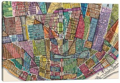 Modern Map Of St. Louis Canvas Art Print