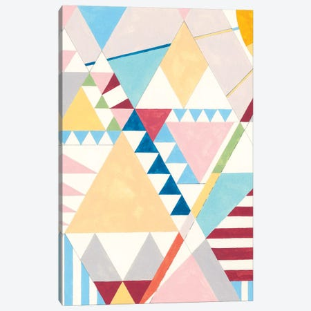 Triangles And Pyramids I Canvas Print #NIK42} by Nikki Galapon Art Print
