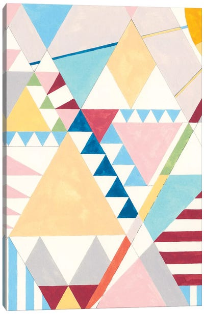 Triangles And Pyramids I Canvas Art Print