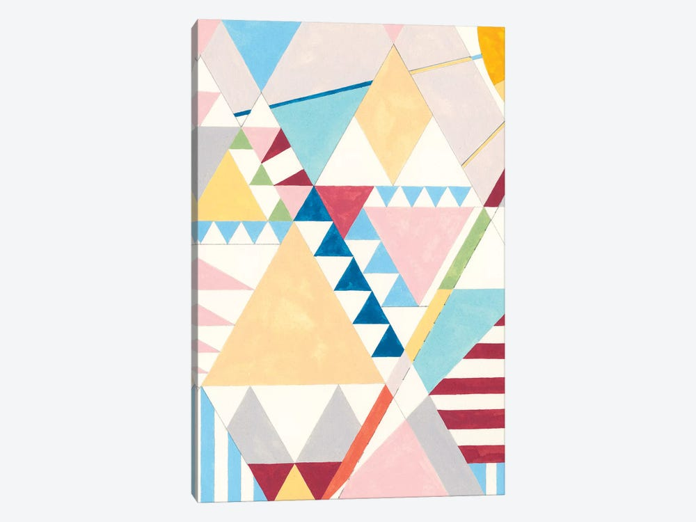 Triangles And Pyramids I by Nikki Galapon 1-piece Canvas Print