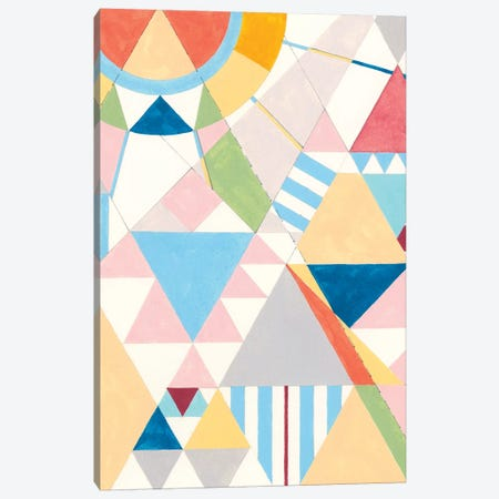 Triangles And Pyramids II Canvas Print #NIK43} by Nikki Galapon Art Print