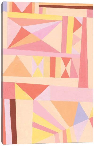 Blush Structure I Canvas Art Print