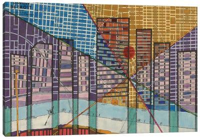 Modern Map Of Detroit Canvas Art Print